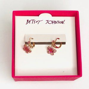 Betsey Johnson Flower Earrings New in Box